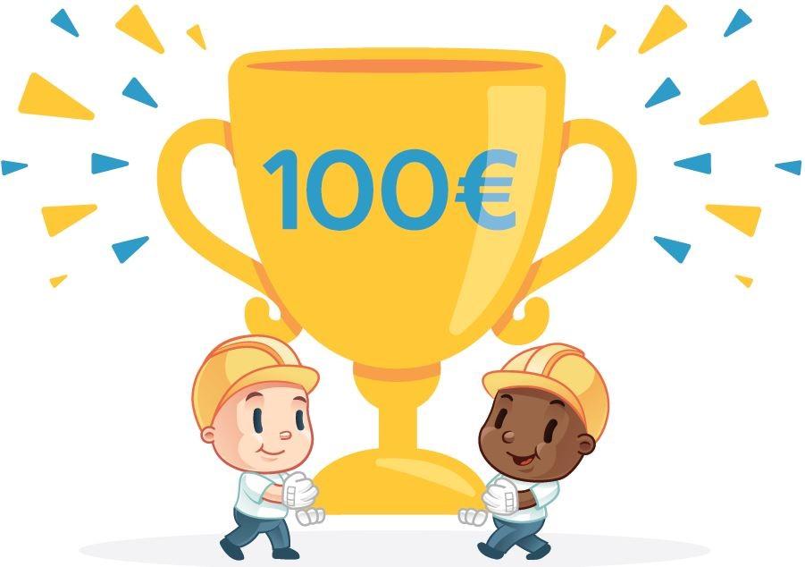 Jeu Bébé et Tournevis 100 euros à gagner